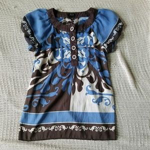 NWOT Nicole by Nicole Miller Blue Blouse